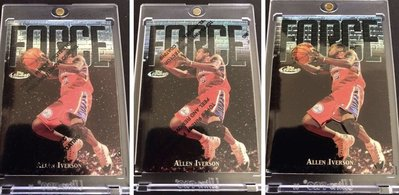 🏀1997-98 Topps Finest Force #143 Allen Iverson(Uncommon 3張 詳情 請看內文說明)