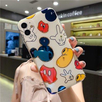 【iphone12手機殼】卡通造型手機保護套 迪士尼 米奇 卡通造型 軟殼 防摔 保護 蘋果手機殼