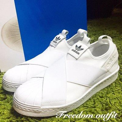 [FDOF] Adidas Superstar Slip On W 繃帶鞋 貝殼頭 白色 S81338