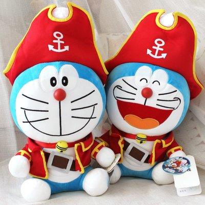 哆啦A夢2018電影同款毛絨公仔大雄的金銀島叮當貓抱枕海盜機器貓