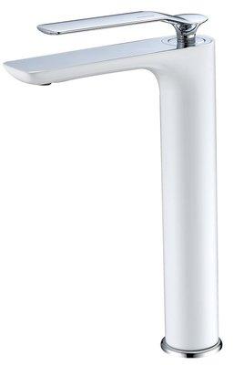 《101衛浴精品》台灣精品 TAP 加高型 面盆龍頭 100568 白暇系列 白色烤漆 進口陶瓷閥芯【免運費】