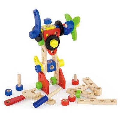 *小貝比的家*VIGA(優質原木教具)-CONSTRUCTION BLOCK SET(68PCS) 變型金剛拼裝積木套組