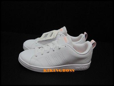 【喬治城】ADIDAS  VS ADVANTAGE CL女款休閒鞋(白粉)DB0581
