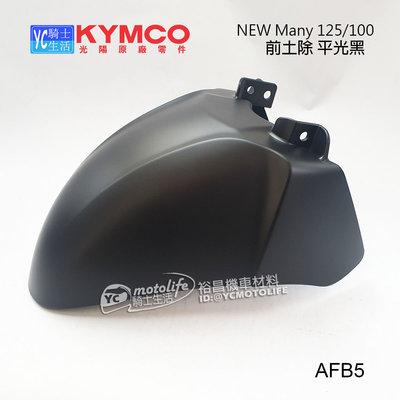 YC騎士生活_KYMCO光陽原廠 前土除 New Many125 前擋泥板 車殼 New Many110 魅力 AFB5