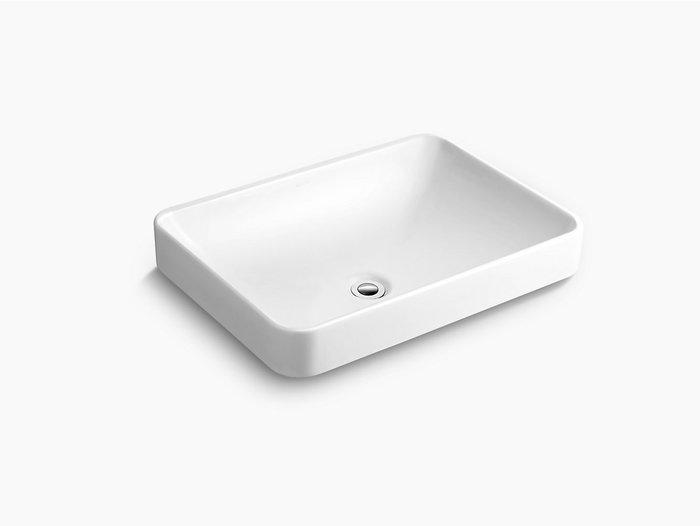 浴室的專家 *御舍精品衛浴 KOHLER Forefront 拂朗系列 長方形上崁盆 時尚臉盆 K-5373T