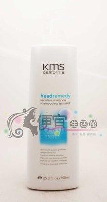 便宜生活館【洗髮精】KMS-敏感洗髮精750ml-針對頭皮癢與敏感性頭皮~給予最溫和的清潔