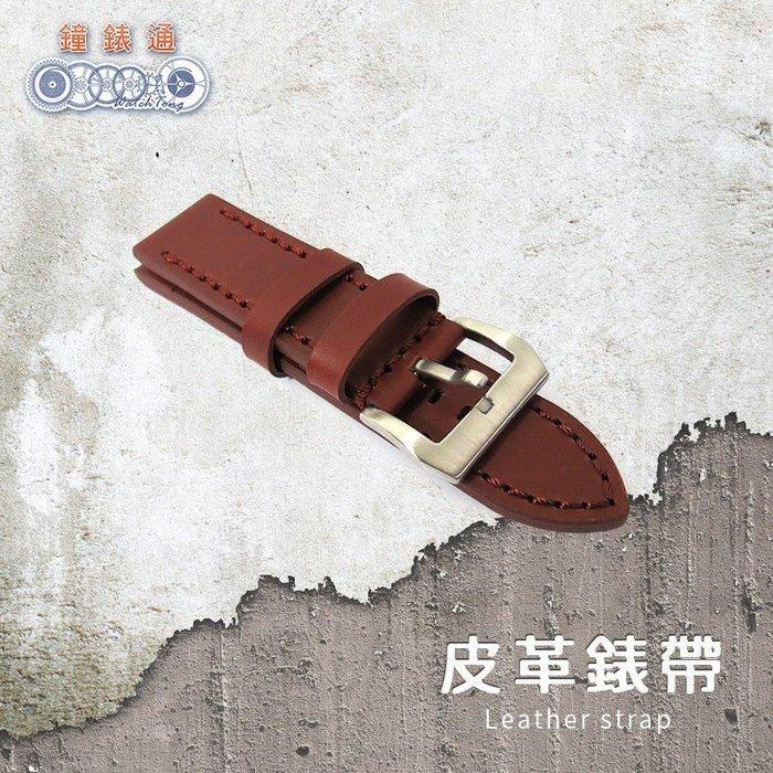 【鐘錶通】原始系列 沛納海專用錶帶 原始咖 單一尺寸 車線款