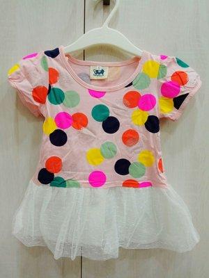 (現貨#7、#11)童夏季彩色點點紗裙
