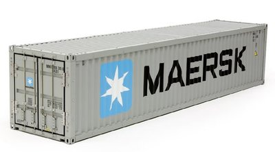 【TAMIYA 56516】1/14 40呎貨櫃 Maersk 塗裝