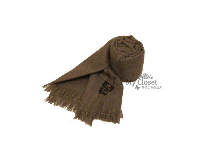 My Closet 二手名牌 LORO PIANA 淺咖啡色系 Cashmere 圍巾