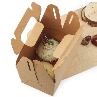 熱銷手提蛋糕盒白卡食品包裝盒點心盒牛皮紙袋糖果盒烘培盒/訂單滿200起發貨噢