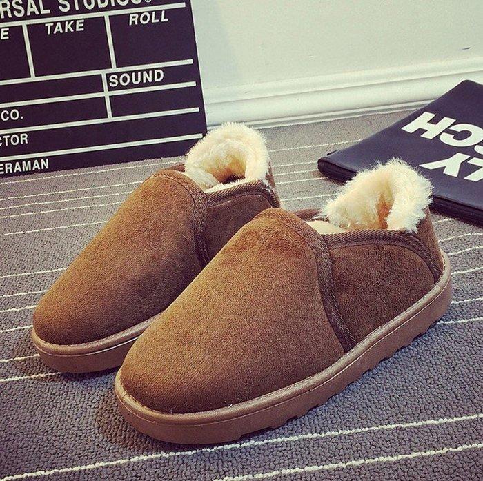 2015韓版潮雪地靴短靴雪靴樂福款冬季加絨內裡毛料女棉鞋學生保暖麵包鞋女款