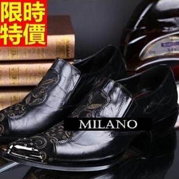 尖頭鞋 真皮皮鞋-時尚窗花兔子英倫低跟男鞋子65ai16[獨家進口][米蘭精品]
