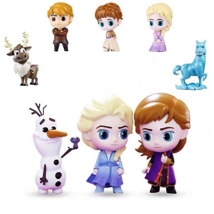《瘋狂大賣客》Disney 迪士尼 冰雪奇緣 艾莎 Elsa 安娜 Anna 阿克 雪寶 漢斯 盲盒 蛋糕 音樂 奇幻 喜劇 卡通 動漫 公仔 擺件 盒玩