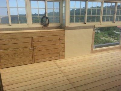 橙舍木地板~南方松踏板