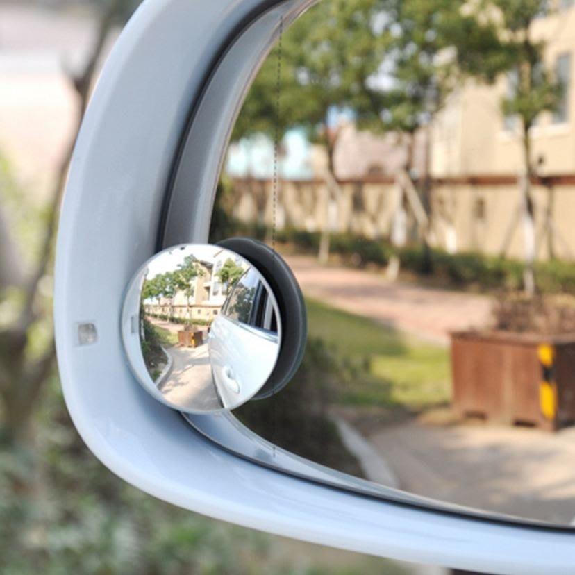 【MIMI SHOP】【凸鏡廣角後照鏡】不挑色 汽車後視鏡 倒車鏡 汽車小圓鏡 可旋轉反光鏡 小凸鏡