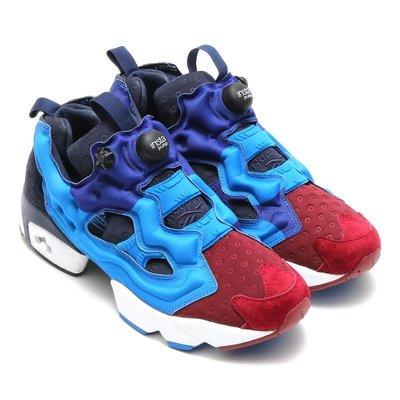 =CodE= REEBOK INSTA PUMP FURY ASYM 針織尼龍慢跑鞋(藍紅紫) V67792 男女 預購
