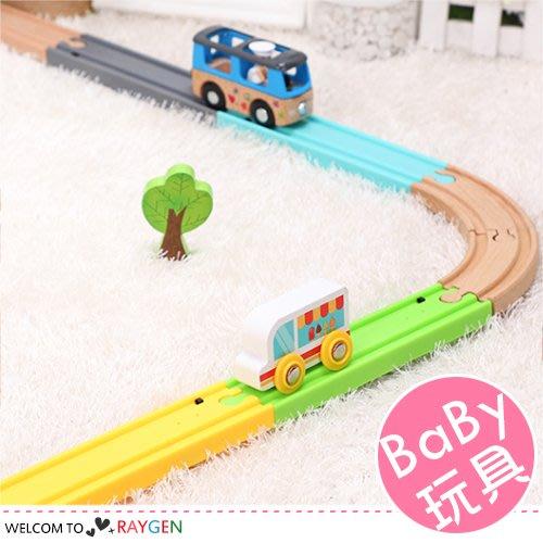 HH婦幼館 木質火車發聲軌道 模擬火車鳴笛聲 兼容IKEA木質軌道 兒童玩具【】