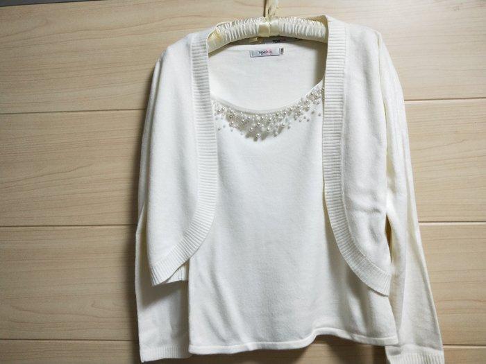 丹丹衣坊--epabis品牌二件式針織衫(白色)