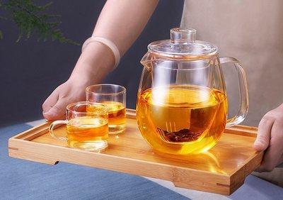 ~幸福家園~1200ML~8件套~耐熱玻璃冷熱兩用泡茶壺~耐高溫大容量~水杯~冰冷水壺~中藥~涼茶~花茶~咖啡壺~煮雞湯