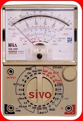 ☆SIVO工具商城☆HILA HA-360 指針三用電錶 超低價、經濟實用型 ~實體公司店面~