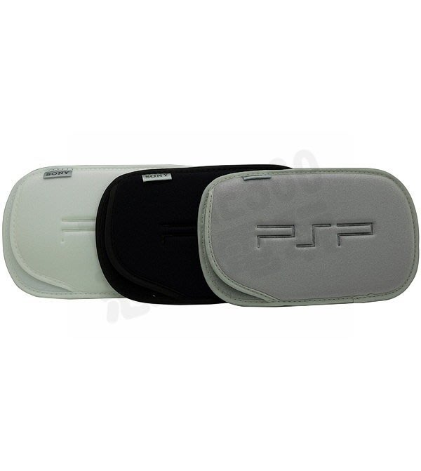 PSP 1000 2000 3000 原廠布包 收納包(白色、黑色、銀色)【台中恐龍電玩】