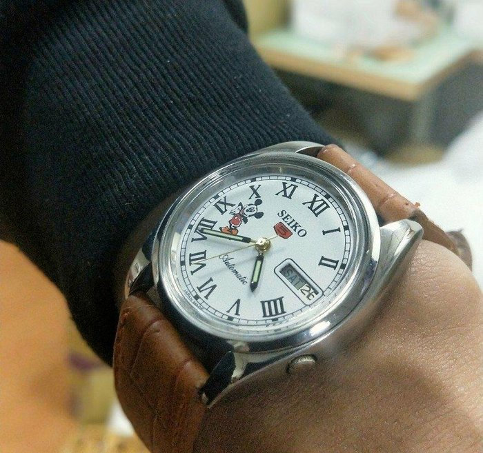 SEIKO精工5號米奇錶VINTAGE復古手錶日本制造 米奇表盤 1980S