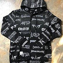 Slightly Numb headbanger hoodie滿版翻玩重金屬名團logo帽Tee連帽衛衣