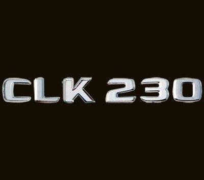 金螃蟹 賓士 CLK W208 後車廂鍍鉻字體 CLK200 CLK230 CLK320 CLK430 CLK55