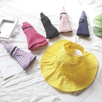 遮陽帽 兒童帽子女孩夏季女童太陽帽寶寶防曬帽夏遮陽帽空頂帽大檐親子帽