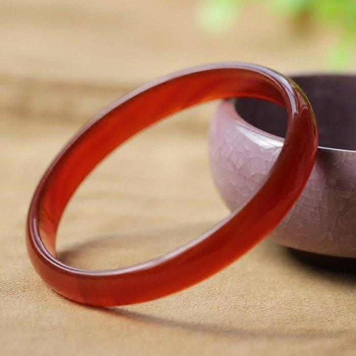 【福寶堂】天然紅瑪瑙手鐲女玉鐲子細窄條款紅水晶玉髓手鐲正品鐲子手環
