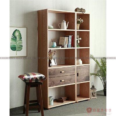 [紅蘋果傢俱]MJ022 北歐 日式 實木 現代 簡約 落地書架 櫃子 置物架 書架