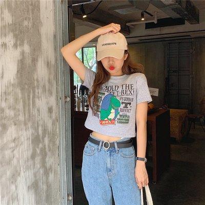 白色t恤女短袖2019新款夏季韓版寬松百搭卡通印花半袖體恤衫ins潮《拾月生活小鋪