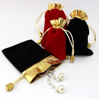 10X12絨布袋珠寶首飾袋束口袋玉器錦布袋紅色手鐲手串手鍊植絨袋首飾飾品袋首飾包裝袋飾品袋 錦囊束口福袋禮品文玩包裝袋