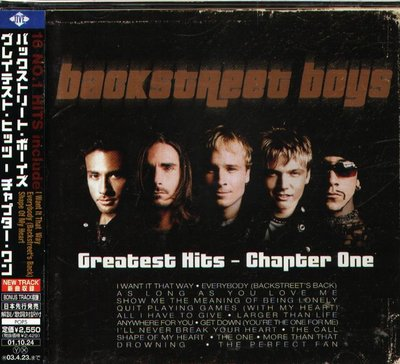 K - Backstreet Boys - Greatest Hits Chapter One - 日版 +1BONUS