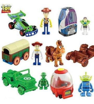 TAKARA TOMY 多美 玩具總動員 巴斯 胡迪 三眼怪 紅心 綠色小兵 翠絲 熊抱哥 七台合售