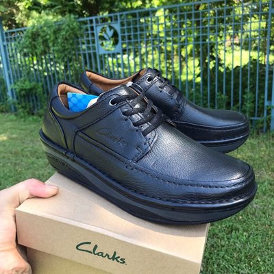 Clarks最新經典款男鞋皮鞋時尚牛皮舒適休閑鞋 黑色 39-44碼