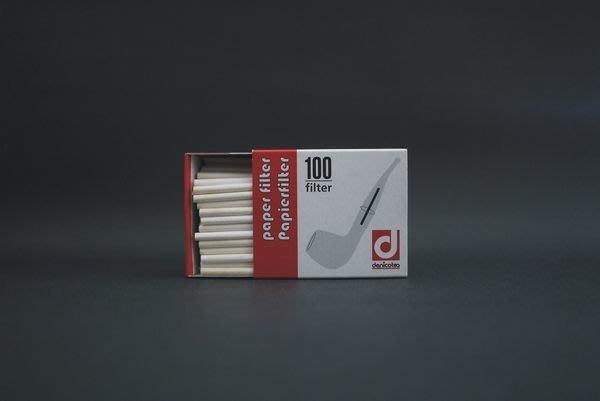 ONE*$1~德國*丹尼可*denicotea 《3mm紙濾心》煙斗專用*100支盒裝