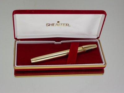 全新品 AUST 1980 SHFAFFER西華帝國 797 全12K G.F.金條紋外殼 14k F尖鋼筆
