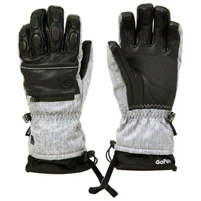 GO WELL滑雪手套(男款-五指) 防風|防水|防滑|耐磨|聚酯纖維【威飛客】灰色