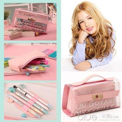 透明鉛筆袋高中小學生用文具袋韓國簡約小...