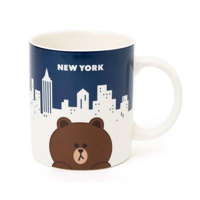 【馬克杯】 LINE FRIENDS 熊大 兔兔 紐約 開幕限定 馬克杯 MUG 330 ml  莎莉 熊美 雷納德