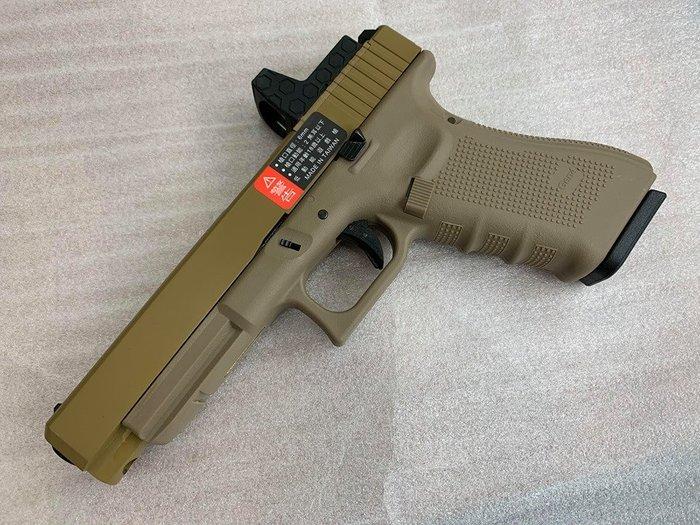 JHS((金和勝 槍店))免運費 WE 沙色 G34 Gen4 RMR版 瓦斯手槍 4827