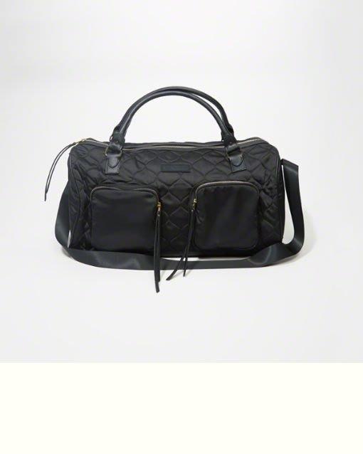 Maple麋鹿小舖 Abercrombie&Fitch * AF 女生黑色旅行手提肩背袋 *( 現貨 )