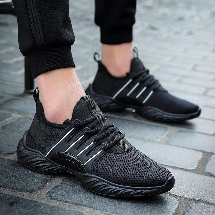時尚男鞋白色網鞋網面防臭軟底防滑運動鞋爆款男士防臭跑步鞋