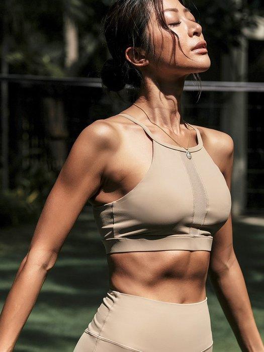 運動內衣 高強度運動文胸健身跑步防震聚攏集中定型背心式瑜珈內衣女--崴崴安