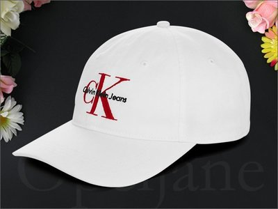 Calvin Klein Hat 卡文克萊 CK白色 棒球帽 鴨舌帽 防曬 遮陽帽高爾夫球帽 可調頭圍 愛Coach包包