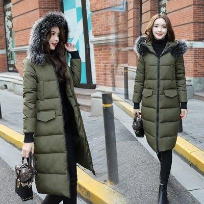 羽絨外套 連帽夾克-保暖厚實毛領中長款女外套2色73pa16[獨家進口][米蘭精品]