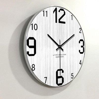 掛鐘現代簡約時尚客廳掛鐘創意北歐個性木質木紋靜音鐘表   全館免運