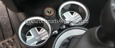 MINI COOPER S 2007-2013 出廠 R55/R56/R57/R58/R59 車用杯墊 杯墊 英國國旗